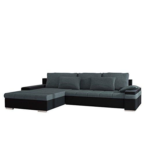 Mirjan24  Design Ecksofa Bangkok, Moderne Eckcouch mit Schlaffunktion und Bettkasten, Ecksofa für Wohnzimmer, Gästezimmer, Couch L-Form, Wohnlandschaft,