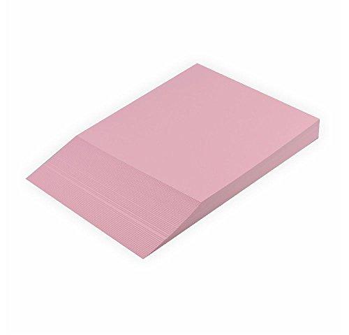 Creleo - Cartoncino colorato, 300 g, A4, 50 fogli, rosa