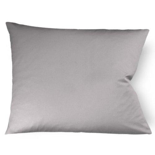 fleuresse Kissenbezug colours 9100-9021, 40x80cm, Mako Satin, Farbe Grau, 100% Baumwolle, mit Reißverschluss