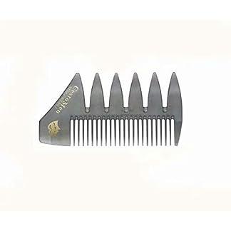SUNXIN 1x Herramienta de peluquería, dientes anchos y peine de tenedor para suavizado de bigotes y modelado con aceite