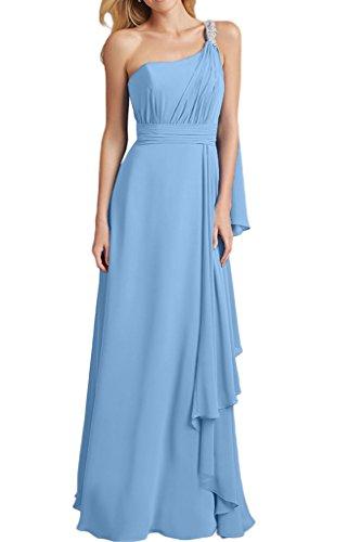 Royaldress Gruen Chiffon Abendkleider Brautjungfernkleider Partykleider  Lang A-linie Chiffon Rock Hell Blau