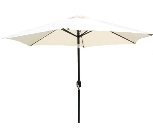 Bentley ombrellone in metallo 2,7 m, apertura a manovella,  asta 38 mm, panna