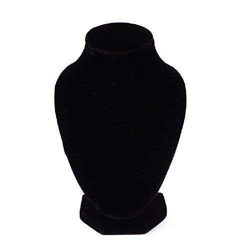 TR.OD - Busto expositor de terciopelo para collares, color negro