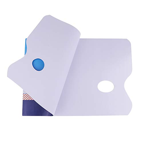 Baoblaze 36 Hojas Paleta de Papel de Paleta Desechable para Acuarela de Aceite Acrílico - 335X254 mm