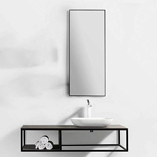 Pharao24 Design Badezimmer Set in Schwarz und Eiche Grau Dekor modern