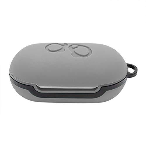 SO-buts Drahtlose Bluetooth-Headset-Silikonhülle, Silikonhülle Kopfhörer Tasche Staubdicht Schutz Samsung Galaxy Buds(Grau)
