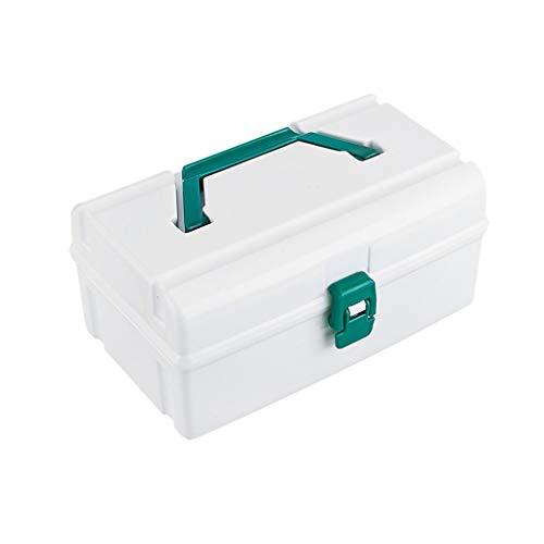 Haushalt Kunststoff-Medizin-Box mehrschichtige Medizin Aufbewahrungsbox tragbare Erste-Hilfe-Kit Multifunktions-Medizin-Box CQOQ (Size : 21×12×10cm) -