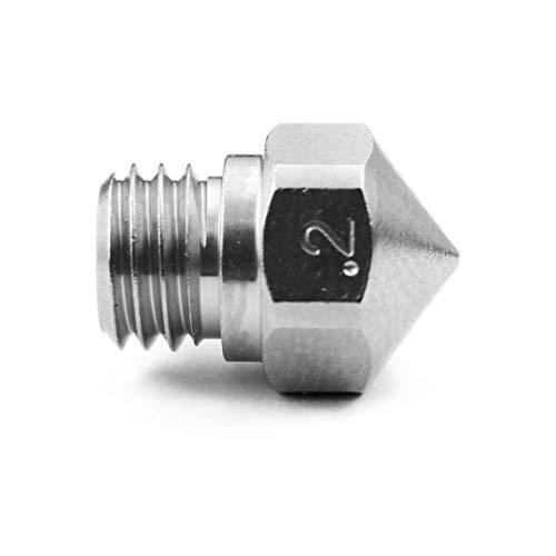 Micro Swiss Plated Wear Resistant Nozzle Reprap-M6Thread 3mm Filamento Ultimaker 2+, E3D, Olsson bloque 0.2mm