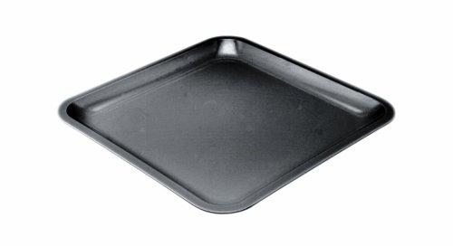 Zak Designs 0015-0310E Assiette carrée 26cm Noir Seaside mélamine