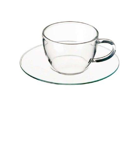 Bohemia Cristal 093/006/028 Piccolo - Juego de tazas de café con plato (100 ml, 4 piezas)
