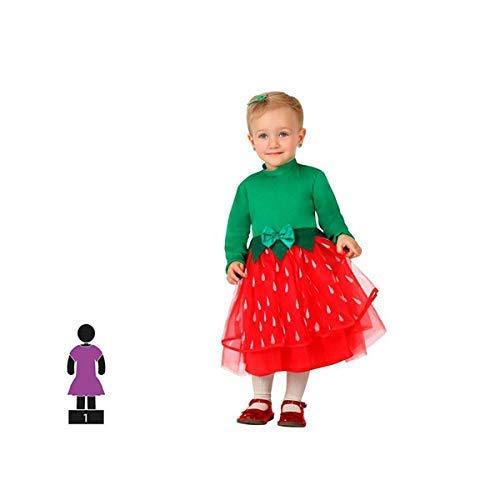 Schwan 2013, S.L. Kostüm für Kinder-Fasching Erdbeere rot und grün. Größe 6-12 Monate für Jungen und Mädchen. Cosplay Mädchen ()