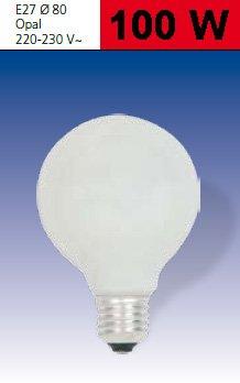 Glühlampe Globelampe Ø80 E27 230V 100W opal von Edi-Light - Lampenhans.de