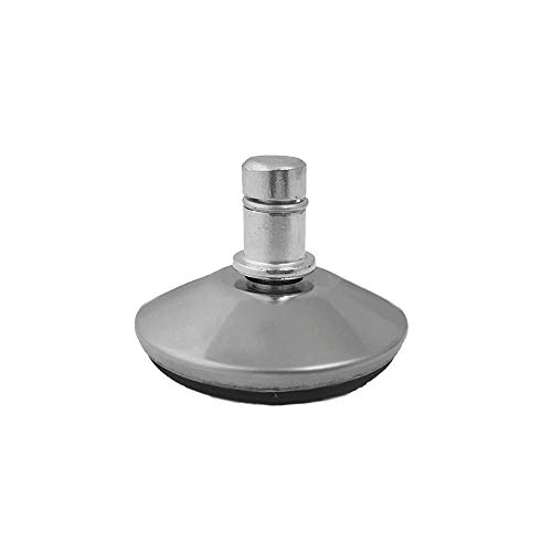 IVOL Bürostuhl-Gleiter Deluxe - 5er Set - 11mm - Edles Aluminium und kratzfreie Oberfläche