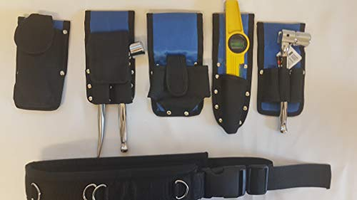 Werkzeuggürtel für Gerüstbau, Blau - 8 Werkzeugset in 1 gepolsterter Gürtel