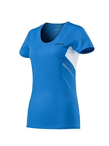 HEAD Damen Club Technical T-Shirt, blau, m