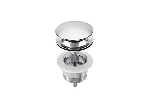 Roca - Click-clack desagüe universal. tapón cromado 65 ø Desagües para lavabos y bidés. Ref. A525437100