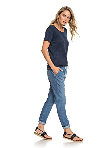 Roxy Damen Beachy Denim Pant medium Blue, XL - Bekleidung Denim Für Frauen