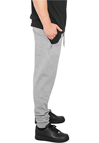 Urban Classics Sweatpants Side Zip Contrast Pocket, Color:gry/blk;Größe:M gry/blk