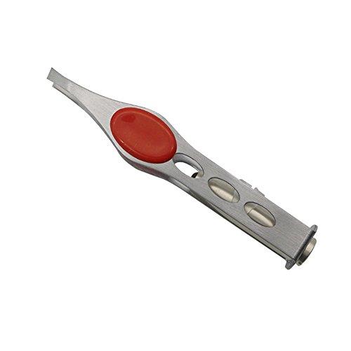 Ogquaton Premium-Qualität Körper Professionelle LED-Licht Edelstahl Augenbrauen Pinzette Haarentfernung Schönheit Hochwertige Make-up-Tool