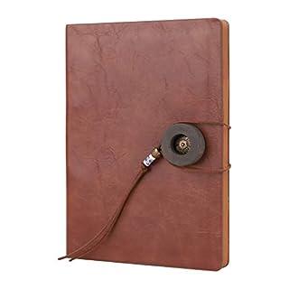 Afinder Retro DIN A5 Tagebuch Notizbuch Leder Reisebuch Skizzenbuch Personal Organizer Ringbuch Nachfüllbar Buch Geschenkbuch Travel Journal Diary Notebook