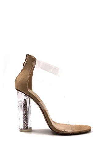 CHIC NANA . Chaussure Femme Mode Bottine à talon transparent.
