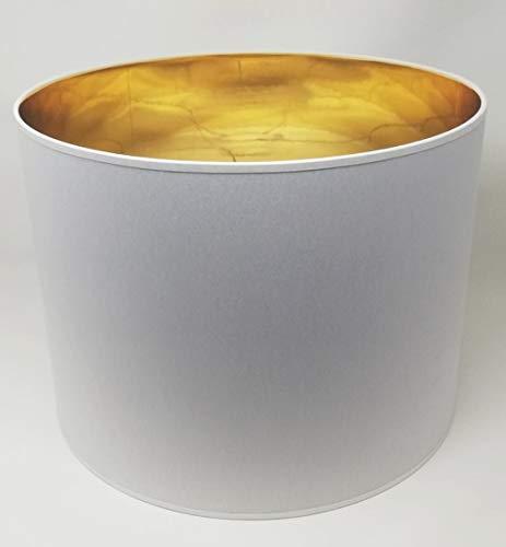 r Form Weiß Stoff Gold Futter Handarbeit Verschiedene Größen Deckenanhänger - Tisch (40 cm Durchmesser 30 cm Höhe) ()