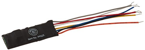 Bachmann E-Z Command DCC Decoder with Wire Harness, 9.5mm x 25mm x 5mm (Programming on The Main, Lights, Dimming) 1/card