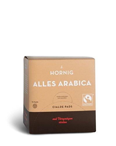 J. Hornig Alles Arabica Lungo - 150 ESE Kaffeepads Bio, Fairtrade / ESE Pads / Pods / Cialde, 1005 g