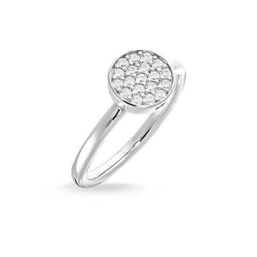 THOMAS SABO Damen Solitärring Sparkling Circles Ring 925er Sterlingsilber TR2050-051-14
