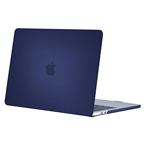 MOSISO Coque Compatible MacBook Pro 15 Pouces A1990 A1707 2019/2018/2017/2016 - Ultra Slim Coque Rigide Compatible Macbook Pro 15 Pouces Touch Bar et Touch ID, Bleu Marin