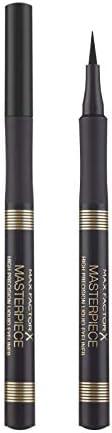 Max Factor Eyeliner Penna Masterpiece High Precision, Punta a Spatola per Tratto Spesso e Sottile,01 Black