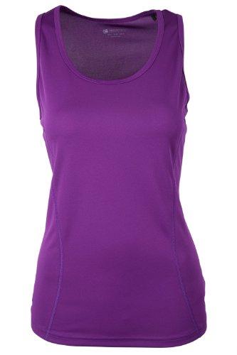 Mountain Warehouse Climat T-Shirt Femme Top Baselayer Respirant Pilates Yoga Sport Gym Course Vélo h- Violet 38