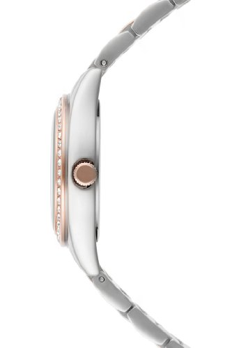 CHRIST times Damen-Armbanduhr Edelstahl Analog Quarz One Size, perlmutt, silber rosé -