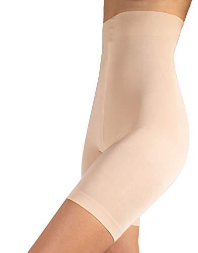 Pantaloncino snellente vita alta, guaina contenitiva e modellante, shaper & push up, nero & naturale, s m l xl (3 - m, naturale)