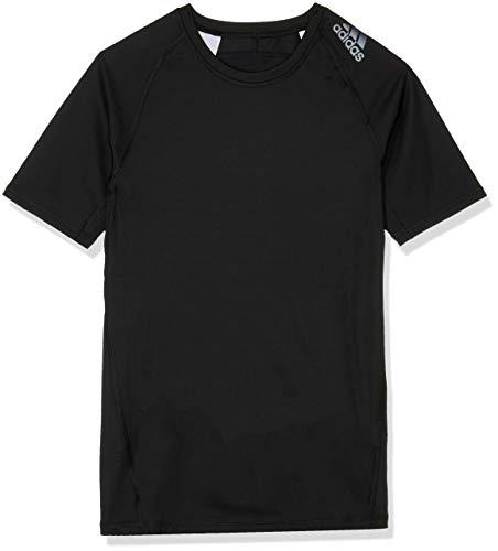 adidas Jungen Alphaskin Sport Kurzarm T-Shirt, Black, 140 -