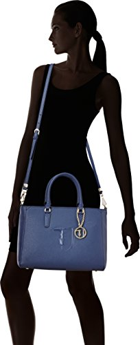 Spalla Trussardi Blu Cm 18x42x46 Ischia Borsa Donna Jeans A BvWngvqF