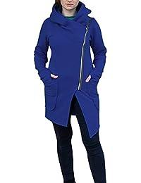Yvelands Las Camisas para la liquidación de Las Mujeres, Mujer Invierno Zipper Blusa con Capucha Sudadera con Capucha Abrigo Chaqueta Outwear