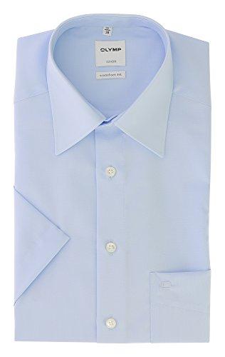 OLYMP - Camicia da uomo Comfort fit, a maniche corte Blau