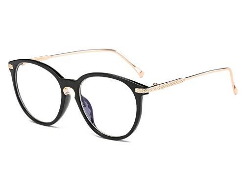 GPZFLGYN Anti-Blau Computer Gläser Anti-Fatigue Klassische Brillen Anti-Blue Ray Brillengestell Damen Herren Retro Oval Brillen Optische Brillengestelle