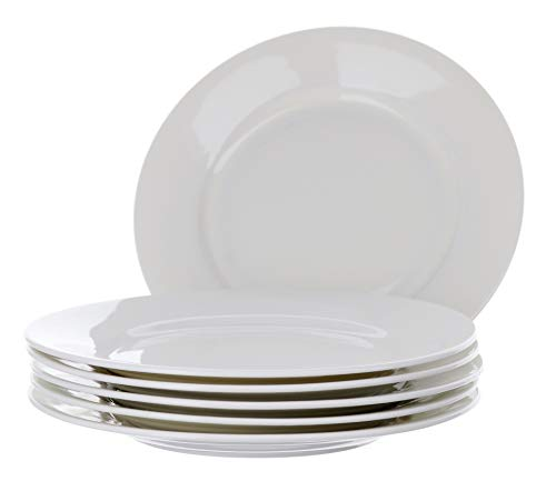 ür 6 Porzellan-Salateller, Küche, mikrowellenfest, für Zuhause/Wohnung, 20 cm ()