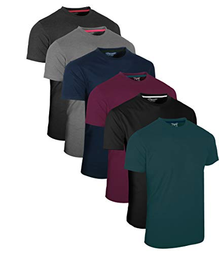 Full Time Sports® Tech 3 4 6 Pack Assorted Langarm-, Kurzarm Casual Top Multi Pack Rundhals T-Shirts (Small, 6 Pack - Dark Assorted) -
