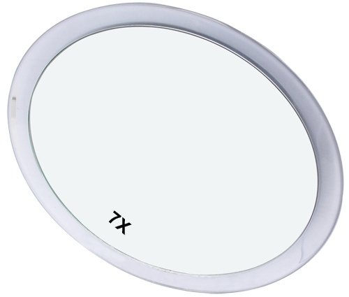 Spiegel mit Saugnäpfen und 7-fach Vergrößerung Durchmesser 23 cm. Für glatten Flächen wie z.B Glasflächen, Fliesen etc.