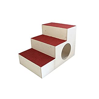 Elmato Dog and Cat Stairs with Carpet 31YS8a4oGxL