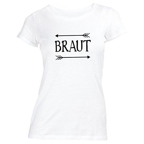 Damen T-Shirt - Junggesellenabschied BRAUT - JGA Style Weiß