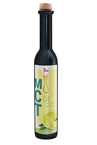 for you MCT-Öl Zitrone auf Basis von 100% Kokosöl ideal für Smoothies Eiweiß-Shakes Salatdressing Bulletproof-Coffee I Hochwertiger Energielieferant für Körper & Gehirn I 250 ml MCT Öl vegan
