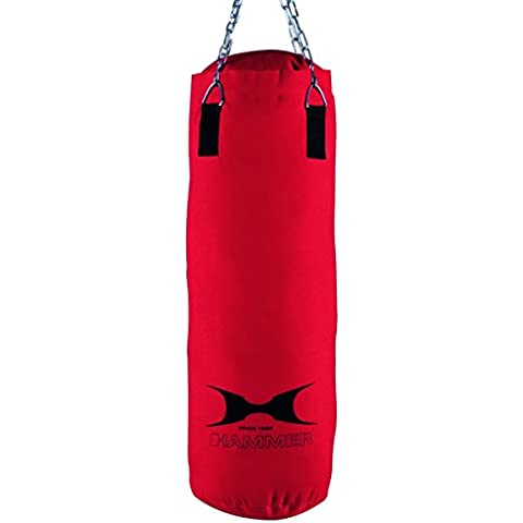 Hammer Home-Fit Punch - Saco de boxeo (30 x 80 cm), color rojo