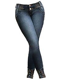 c0e8c42f3f Studio 66 Pantalón Vaquero de Mujer Jeans Push-up Levanta Cola Colombiano  Elástico Ajustado
