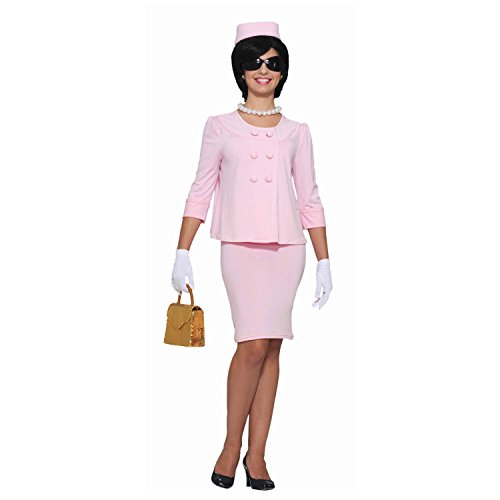Jackie O Damen Kostüm Pink Anzug Kleid hat Jacke Lady Kennedy Onassis 60 's Fancy Dress Gr. Small, ()