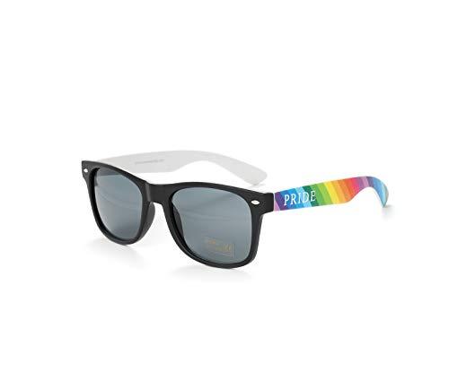 Bunt Stylische Gay Pride Sonnenbrille Regenbogen Farben Rainbow UV400 (25er Pack) WSPSG2