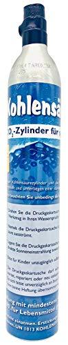 SodaNatureTM | Neu & Erstbefüllt: Versiegelter CO2-Zylinder für alle SodaStream Wassersprudler (z.B. Crystal) | Füllung: 425g natürliche Kohlensäure für 60L Sprudelwasser